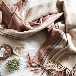 Madewell striped cape scarf